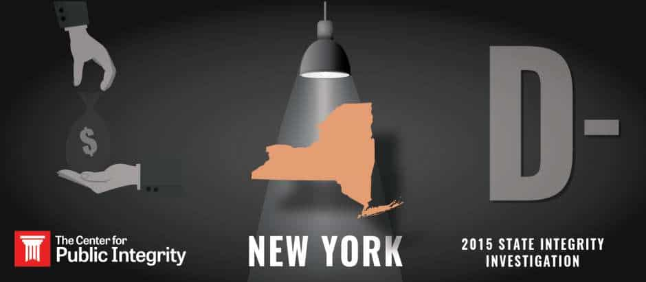 New York gets D- grade in 2015 State Integrity Investigation