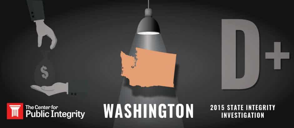 Washington gets D+ grade in 2015 State Integrity