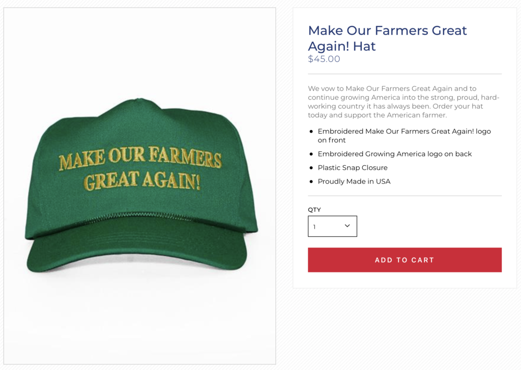 52bfc49759f84 cap for sale on President Donald Trump s campaign website. (DonaldTrump.com)