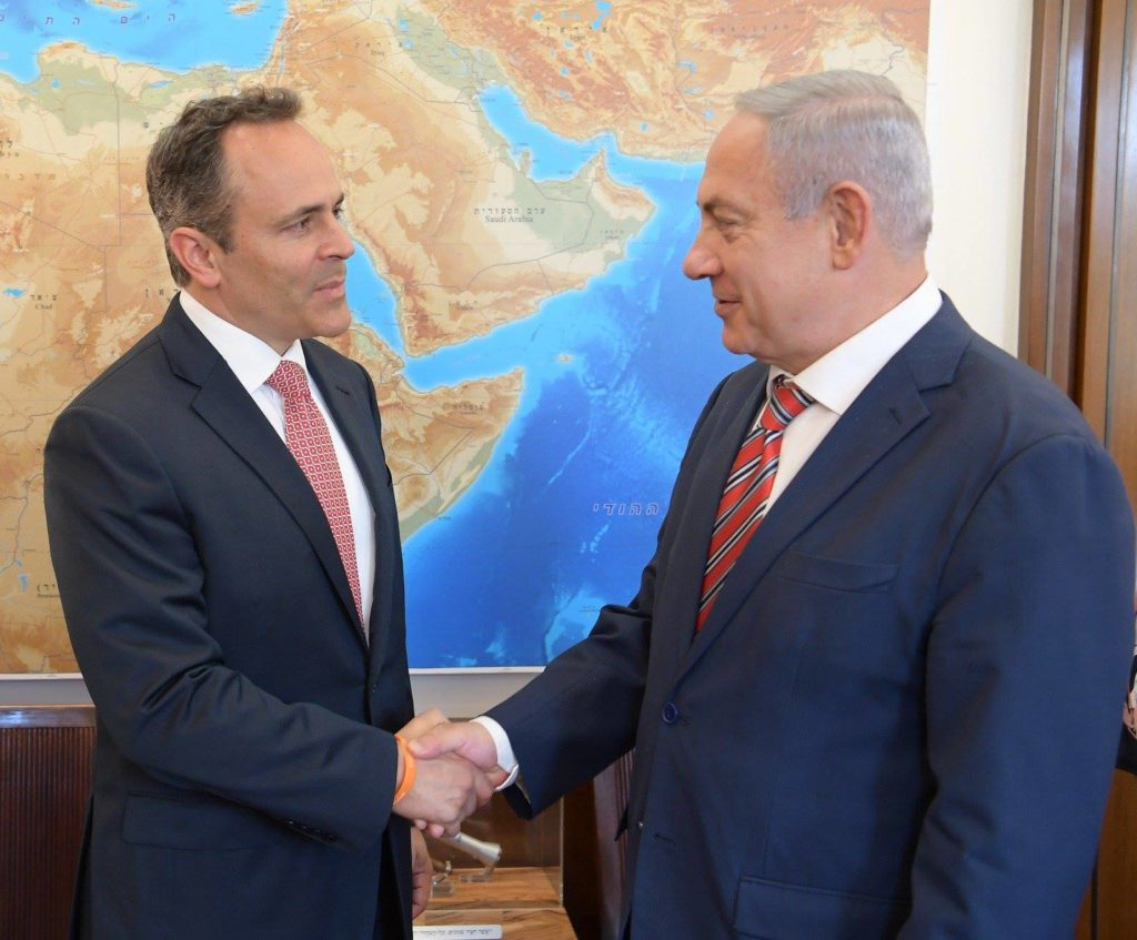 Kentucky Governor Matt Bevin with Netanyahu