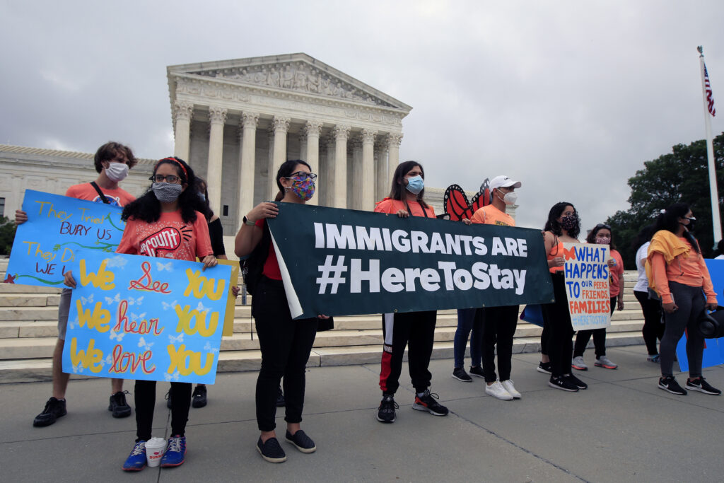 DACA students celebrate after it rejected President Donald Trump's effort to end the administration's immigration policy of legal protections for young immigrants.
