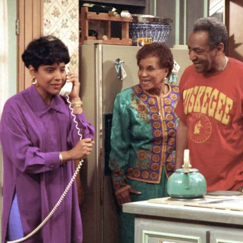 The Huxtable family on the Cosby show