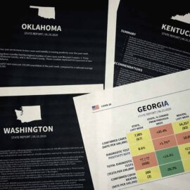 Printouts of coronavirus reports