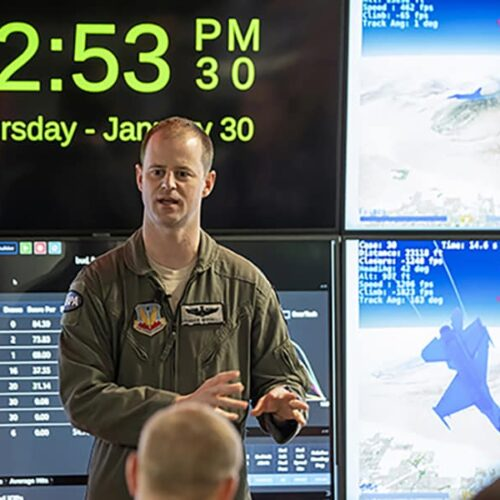 DARPA official talks about air combat simulations.