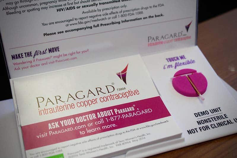 Displayed is an IUD, a form of birth control.