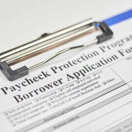 Paycheck Protection Program Borrower Application Form with no data filed in