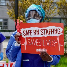 Public health workers, doctors and nurses protest over lack of sick pay and personal protective equipment