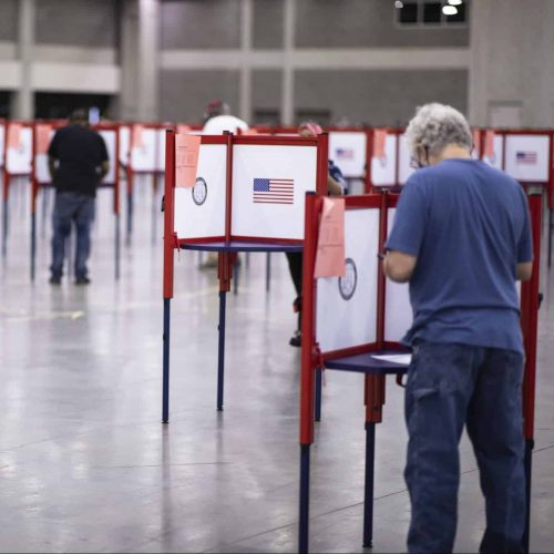 Voters cast their ballots during the primary election on June 23, 2020, in Louisville, Kentucky.