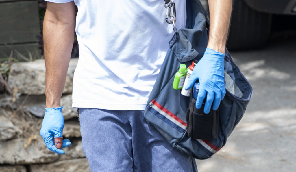 USPS mail carrier Oscar Osorio continues to deliver mail in Los Feliz amid the Covid 19 pandemic